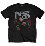 T-shirt Nas  pour homme - Design: Red Rose