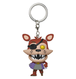 Five Nights at Freddy's Pizzeria Simulator porte-clés Pocket POP! Vinyl Rockstar Foxy 4 cm