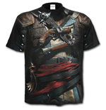 T-shirt Spiral - Assassin's Creed IV Black Flag - Allover Licensed Black (Unisexe)