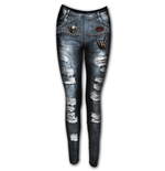 Leggings Spiral - Torn Denim Ao