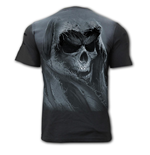 T-shirt Spiral - Tattered Skull - Distressed Spray On