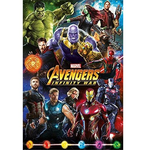 Poster Maxi Marvel: Avengers Infinity War - Characters