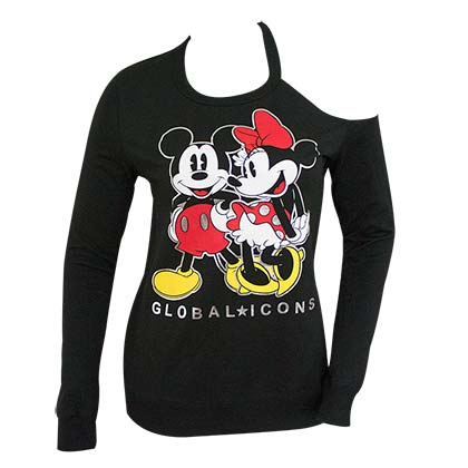 T-shirt Manches Longues Mickey and Minnie Mouse pour femme