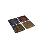 Harry Potter pack 4 sous-verres Houses Crests