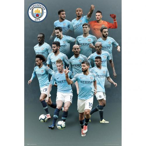Poster Manchester City FC Players 37