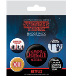 Stranger Things pack 5 badges Upside Down
