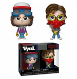 Stranger Things pack 2 VYNL Vinyl figurines Steve & Dustin 10 cm