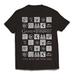 T-shirt Le Trône de fer (Game of Thrones): You Win Or You Die - (Unisexe)