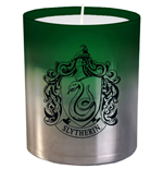 Harry Potter bougie verre Slytherin 8 x 9 cm