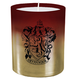 Harry Potter bougie verre Gryffindor 8 x 9 cm
