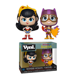 DC Bombshells pack 2 figurines Vnyl. Wonder Woman + Batgirl 10 cm