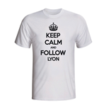 T-shirt Keep Calm and Carry On (Blanc)