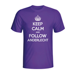 T-shirt Keep Calm and Carry On (Violet)