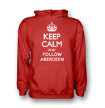Sweat à capuche Keep Calm and Carry On (Rouge)