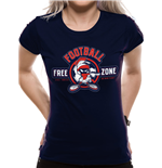 T-shirt Looney Tunes pour femme - Design: ANTI-FOOTBALL