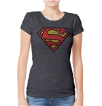 T-shirt Superman pour femme - Design: Distressed Logo