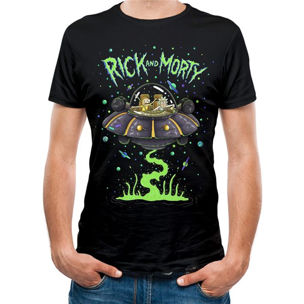 T-shirt Rick And Morty - Design: Space