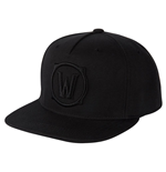 World of Warcraft casquette Snap Back Premium Blackout Logo