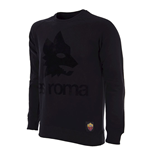 Sweat-shirt Rétro AS Rome Logo (Noir)