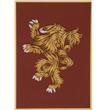 Game of Thrones carte Quilled House Lannister