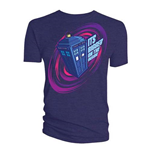 T-shirt Doctor Who  pour homme: Comic Tardis Bigger on the Inside