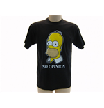 T-shirt Les Simpson - No Opinion