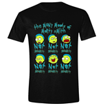 T-shirt Rick And Morty: Many Moods Of Morty (Unisexe)