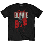 T-shirt David Bowie  pour homme - Design: Red Sax
