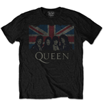T-shirt Queen pour homme: Vintage Union Jack