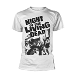 T-shirt Plan 9 - Night Of The Living Dead (Blanc)