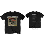 T-shirt Guns N'Roses unisexe: Lies Track List