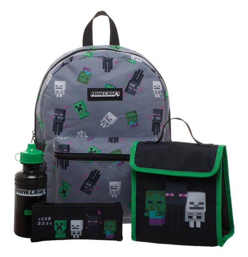 Minecraft set sac à dos Deluxe Creepers