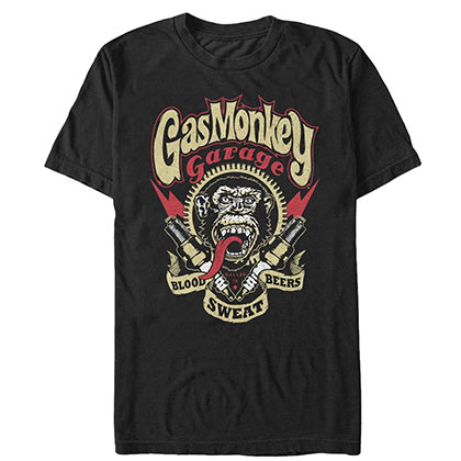 T-shirt Gas Monkey Garage - Blood Sweat Beers
