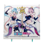 Dioramansion 150 accessoire pour figurines Racing Miku Pit 2018 Optional Panel (Super Sonico Collab)