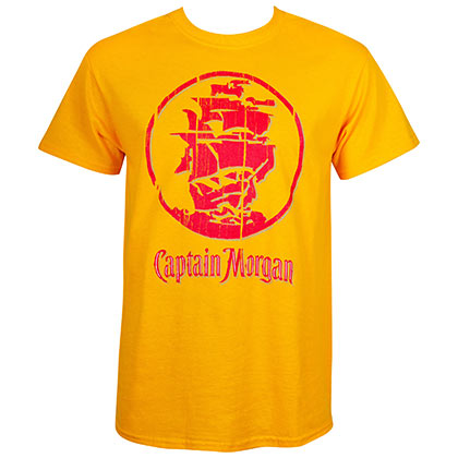 T-shirt Captain Morgan - Gold Ship Logo