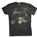 T-shirt Metallica unisexe: Master of Puppets Distressed