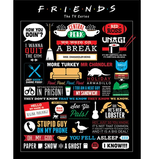 Poster Mini Friends - Infographic (40X50 Cm)