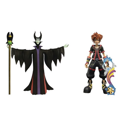 Kingdom Hearts 3 Select pack 2 figurines Maleficent & Sora 18 cm