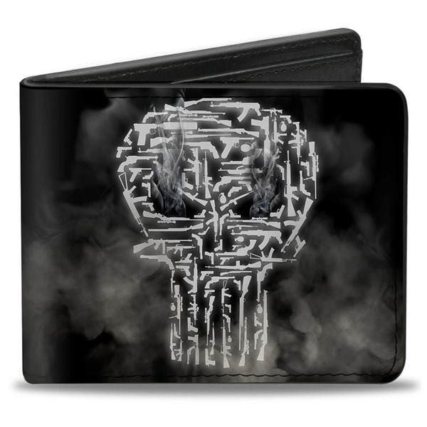 Portefeuille Double Volet The Punisher Smokey Weapons Skull Logo