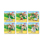 SOUS-VERRES Asterix Olympic Games 6 Coasters Set