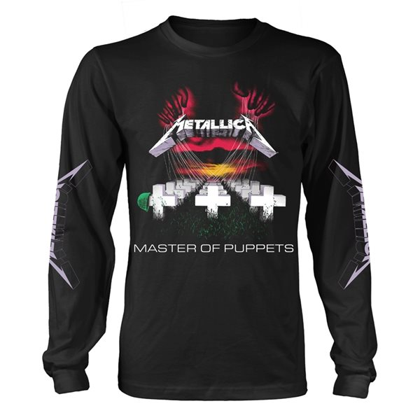 T-shirt Manches Longues Metallica - Master Of Puppets Tracks (Noir)