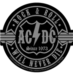 Patch AC/DC - Rock N Roll Will Never Die CUT-OUT