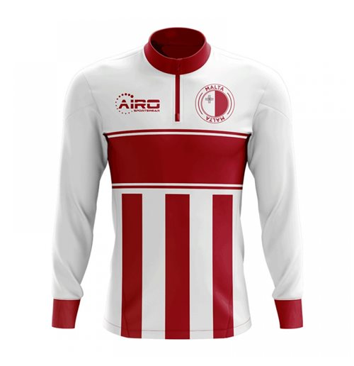 Sweat-shirt Malte Football (Blanc/Rouge)