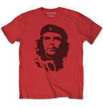 T-shirt Che Guevara Unisexe: Black on Red