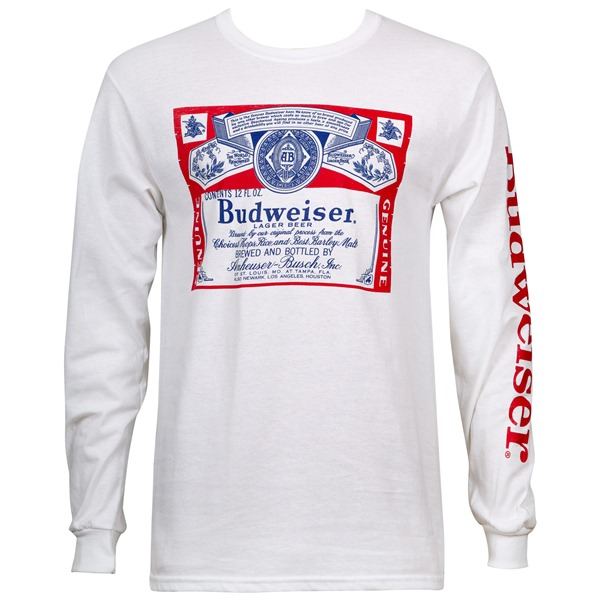 T-shirt Manches Longues Budweiser Beer Label