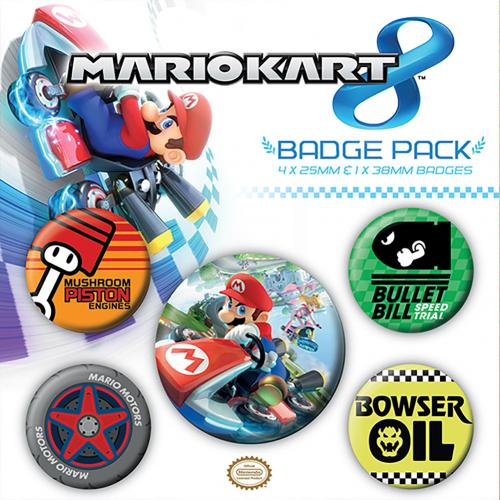 Boutons Epinglettes Super Mario Kart