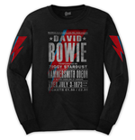 T-shirt Manches Longues David Bowie Unisexe: Hammersmith Odeon (Arm Print)