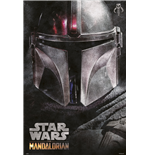 Poster Maxi Star Wars The Mandalorian Helmet