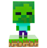 Minecraft veilleuse 3D Icon Zombie