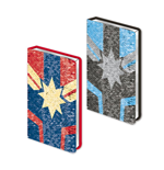 Captain Marvel carnet de notes paillettes Premium A5 Logo